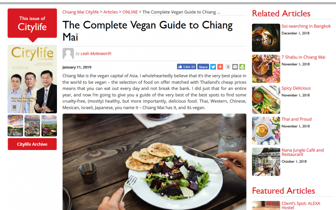 The Complete Vegan Guide to Chiang Mai